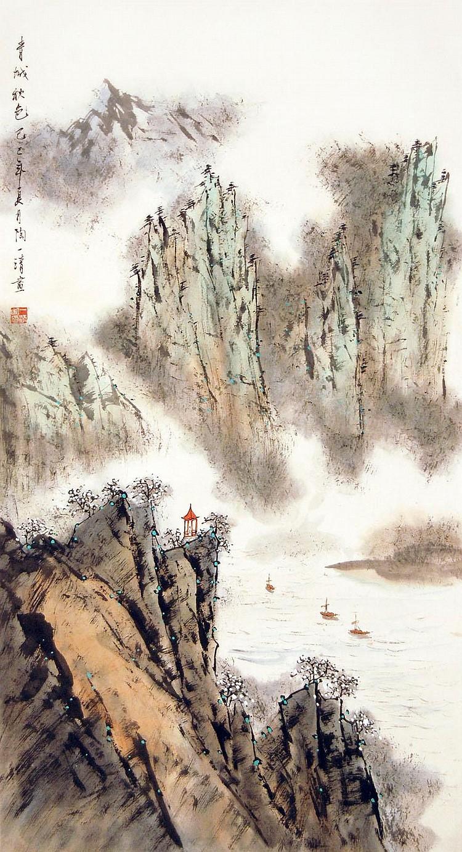 陶一清(1914 - 1986)青城秋色Tao Yiqing Spring Time