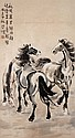 徐悲鴻 (1895-1953) 三駿圖 Xu Beihong  The Three Spirited Horses