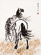 徐悲鴻 (1895-1953) 草原雙馬圖 Xu Beihong  Two Steed on the Prairie