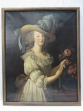 Anon, possibly after Vigee Lebrun. Queen Marie