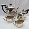 A three piece silver tea service, Sheffield 1899,