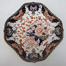 A Victorian Crown Derby large octagonal dish, 27cm