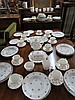 A part dinner service 20thC Staffordshire together