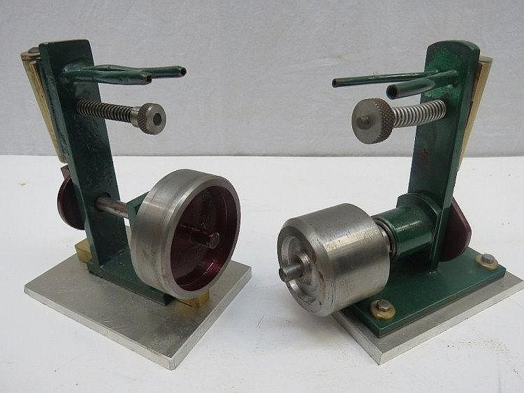 Two similar live steam scale model single piston