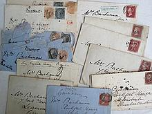 GB and two QV envelopes 1850's. Four are from