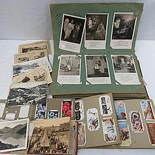 Early 1900s postcard selection in old album, some