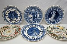 A collection of Wedgwood commemorative plates for