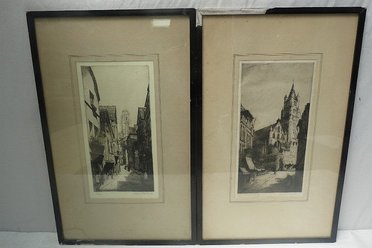 Percy J Westwood. 'Rouen' and 'Bruges', original
