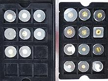 Collection of small gold coins including World