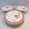 A Victorian hand painted and gilded dessert set