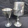 An HM silver wine goblet with neo classical