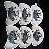 A set of six Wedgwood crescent shaped side dishes,