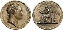 Russia.  Alexander I, 1801-1825.  Sojourn of Alexander in Paris.  Bronze Medal by Andrieu and Denon, 1814.