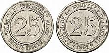 French Colonies.  New Caledonia.  25 (Centimes)