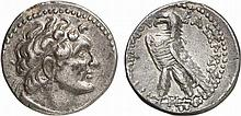 PTOLEMAIC KINGS OF EGYPT.  Ptolemy VI Philometor, 180-145 BC.  AR Didrachm, Uncertain mint in Cyprus.