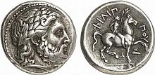 KINGS OF MACEDON.  Alexander III the Great, 336-323 BC.  AR Tetradrachm, in the name and types of Philip II, Amphipolis mint, circa 336-328 BC.
