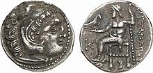 KINGS OF MACEDON.  Antigonos I Monophthalmos (as Strategos of Asia, 320-306/5 BC or King, 306/5-301 BC).  AR Drachm (in the name and types of Alexander III), Kolophon mint, circa 310-301 BC.