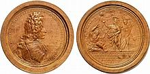 TURKEY.  Turkish related medal.  Ludwig Wilhelm, 1655-1677-1707.  Victories against the Turks.  Medallic Wooden Draughtsman by Philipp Heinrich Müller, 1693.