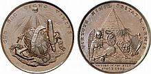 Egypt.  Victory of the Nile.  Bronze Medal by Thomas Wyon, 1798.