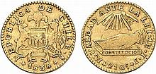 Chile.  Republic.  Gold Escudo 1838 (Santiago mint).