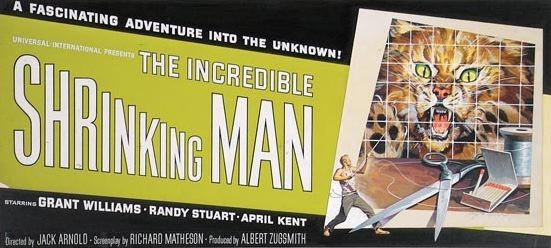 24-sheet movie poster design: The Incredible Shrinking Man, directed by Jack Arnold (Universal Studios)
