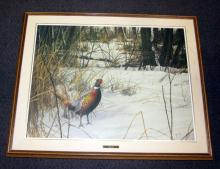 FRAMED DAVID MAASS OIL ON CANVAS LITHOGRAPH