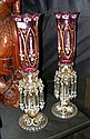 A pair of decorative Victorian style glass lustres