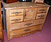 Continental walnut chest of four short and two