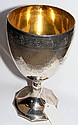 A George III chased and engraved silver chalice