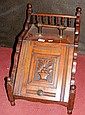 Edwardian coal scuttle with carved door
