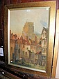 PAUL BRADDON - a large watercolour of Abberville -