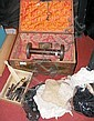 Collectable lace, a Middle Eastern style box etc.