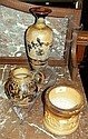 A Doulton Lambeth bulbous tankard, tobacco jar and