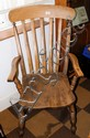 A country slat back kitchen chair
