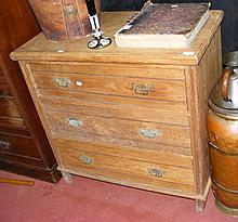 Antique chest of three long drawers