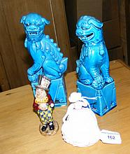 A Royal Doulton figurine, Beswick figure, etc