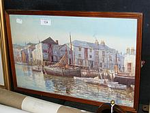 DOUGLAS PINDER - original watercolour of Plymouth