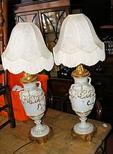 A pair of decorative table lamps