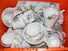 An extensive Shelley floral teaset