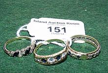 Three lady's dress rings