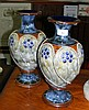 A pair of 34cm high Royal Doulton stoneware vases