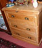 Antique pine desk/chest of drawers with fitted