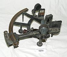 An antique hand-held sextant by Pugh, South