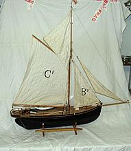 A scale model of the sailing pilot cutter