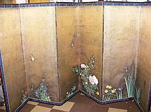 A fine pair of late 18th century Japanese six-fold