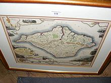 A. BRANNON - hand-coloured map of the Isle of