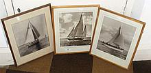 Three Beken & Son monochrome photographs including