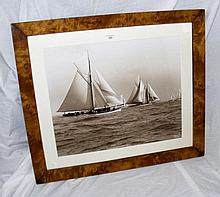 A Beken of Cowes monochrome photograph of