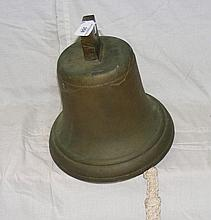 A heavy 28cm diameter brass ship's bell