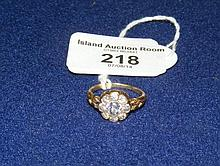 A fine quality antique diamond cluster ring in
